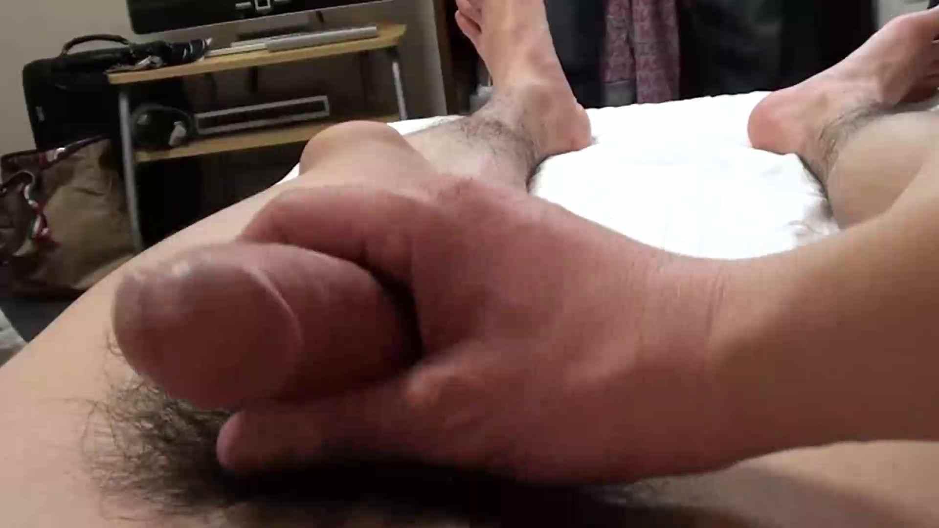 ゲイザーメン動画|ハサミでパンツを切りシゴク|モ無し