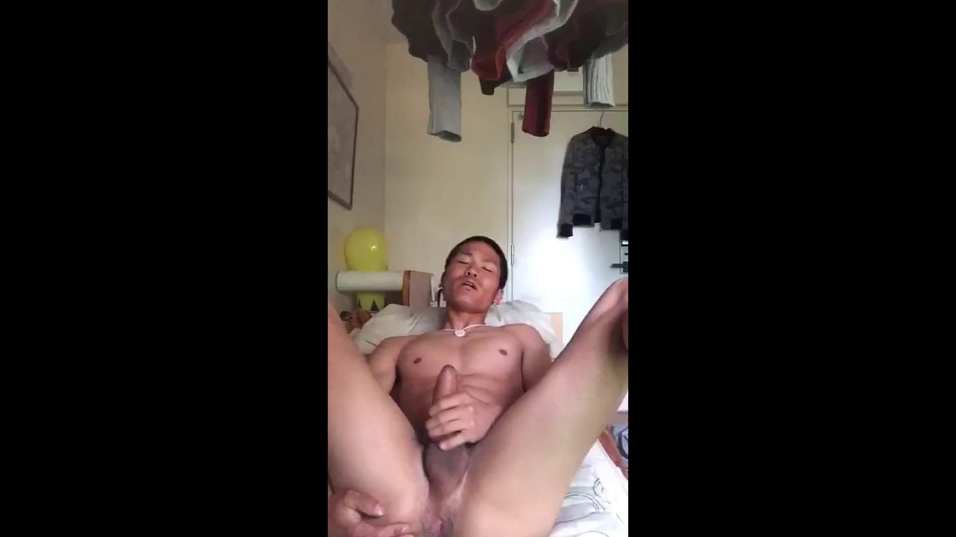 ゲイザーメン動画|お願いっ!僕のオナニー見て下さい♪Vol.02|手コキ