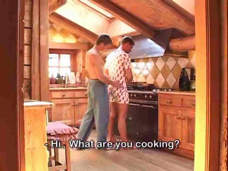 ゲイザーメン動画|真冬の山上のログハウスで仲良くセックス!|洋物