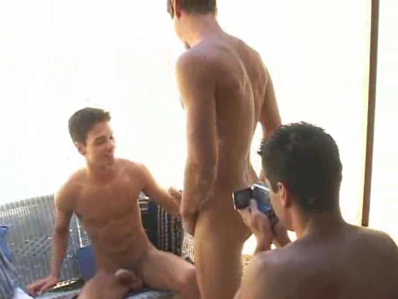 白銀のビーチサイドでイケメン3人組が華麗なポーズで写真撮影! ボーイズ私服 | 野外・露出  92pic 37
