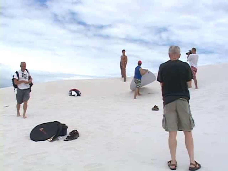 白銀のビーチサイドでイケメン3人組が華麗なポーズで写真撮影! ボーイズ私服 | 野外・露出  92pic 79